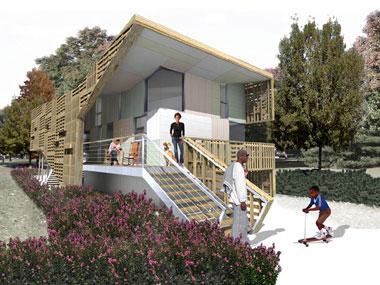Brad pitt pronte le prime case ecosostenibili essere for Stili di casa americana dispensa